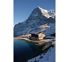 Eiger north face with small lake. Photographic Print