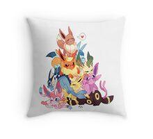 eevee cool evolutions design  Throw Pillow