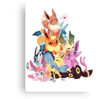eevee cool evolutions design  Canvas Print