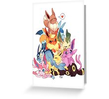 eevee cool evolutions design  Greeting Card