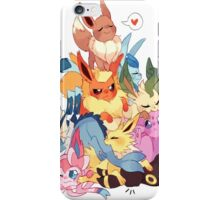 eevee cool evolutions design  iPhone Case/Skin