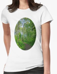 Country path  Womens Fitted T-Shirt