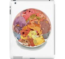 eeve's evolutions in a pokeball iPad Case/Skin