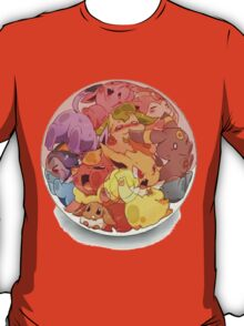 eeve's evolutions in a pokeball T-Shirt