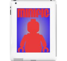 Retro Large Black Minifig, Customize My Minifig iPad Case/Skin