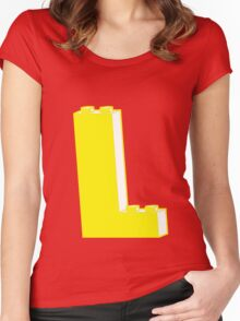 THE LETTER L, Customize My Minifig Women's Fitted Scoop T-Shirt