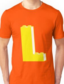 THE LETTER L, Customize My Minifig Unisex T-Shirt