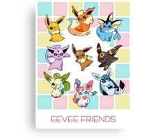 eevee friends Canvas Print