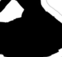 Oh Honey, You KNEW!! (Black Silhouette 2) Sticker