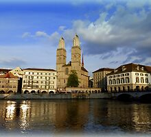 Limmat at Dusk by Charmiene Maxwell-Batten