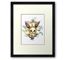 eevee with many tails evolutions Framed Print