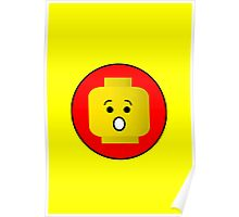 MINIFIG SHOCKED FACE Poster