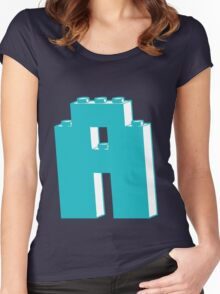 THE LETTER A, Customize My Minifig Women's Fitted Scoop T-Shirt