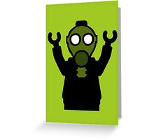 Apocalyse Minifigure wearing Gasmask Greeting Card