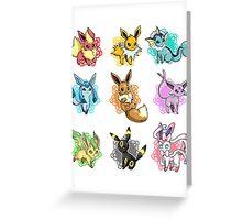 eeve's evolutions mosaic Greeting Card