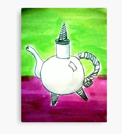 Ink teapot Canvas Print