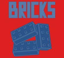 Blue Bricks, Customize My Minifig One Piece - Long Sleeve