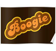 Boogie - Retro 70s - Logo Poster