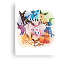 eevee cool evolutions Canvas Print