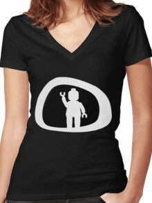 View from a Car Wing Mirror Women's Fitted V-Neck T-Shirt