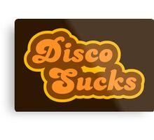 Disco Sucks - Retro 70s - Logo Metal Print
