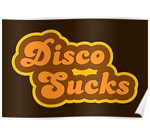 Disco Sucks - Retro 70s - Logo Poster