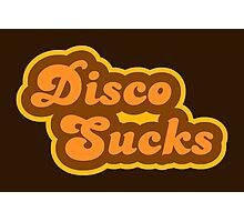 Disco Sucks - Retro 70s - Logo Photographic Print