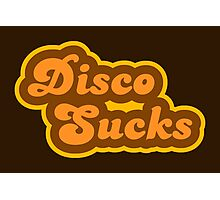 Disco Sucks - Retro 70s - Logo Photographic Print