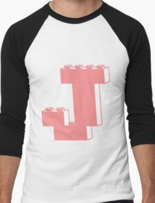 THE LETTER J, Customize My Minifig Men's Baseball ¾ T-Shirt