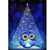 Owl Wish Upon a Star Photographic Print