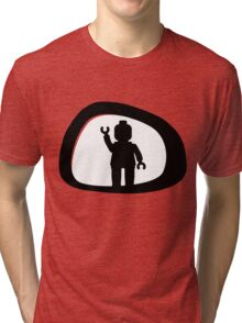 View from a Car Wing Mirror Tri-blend T-Shirt