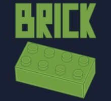 Green Brick, Customize My Minifig Kids Tee