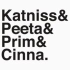 Katniss & Peeta & Prim & Cinna. by Samantha Weldon