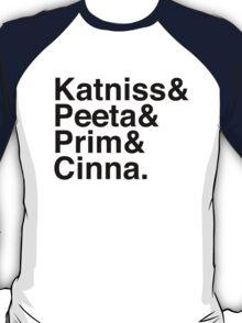 Katniss & Peeta & Prim & Cinna. T-Shirt