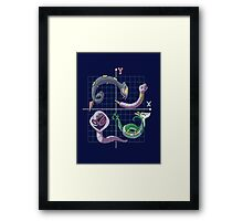 x and y as pokemon world Framed Print
