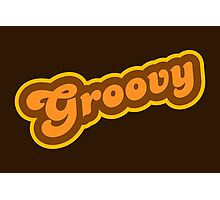 Groovy - Retro 70s - Logo Photographic Print