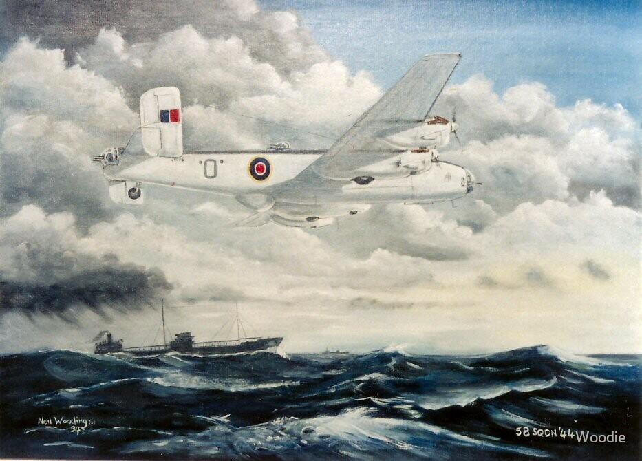 Halifax 58 Sqdn Yorkshire Air Museum by Woodie