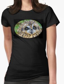 short-eared owl Womens Fitted T-Shirt