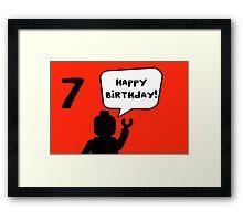 Happy 7th Birthday Greeting Card Framed Print
