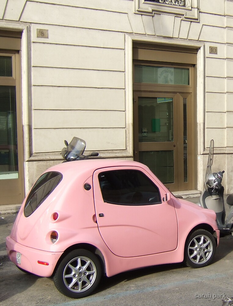 little pink car by sarahcro123