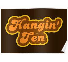 Hangin' Ten - Retro 70s - Logo Poster