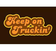 Keep On Truckin' - Retro 70s - Logo Photographic Print
