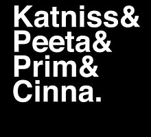 Katniss & Peeta & Prim & Cinna. (inverse) by Samantha Weldon