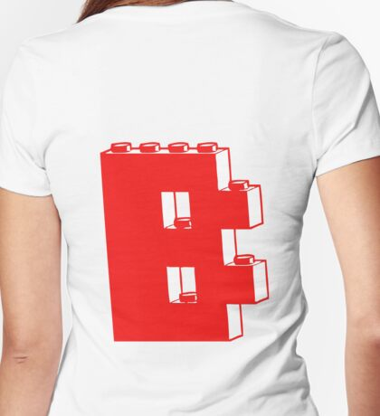 THE LETTER B, Customize My Minifig Womens Fitted T-Shirt