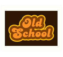Old School - Retro 70s - Logo Art Print