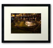 Oasis of Calm Water in the Middle of the Hustle and Bustle of the Piazza Framed Print