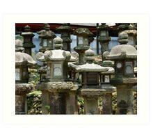 Stone Lanterns Art Print