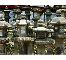 Stone Lanterns Photographic Print