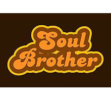 Soul Brother - Retro 70s - Logo Photographic Print