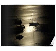 Boats, Elizabeth Bay Poster